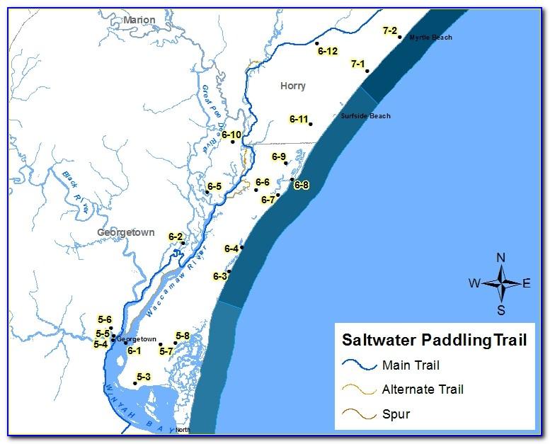 Waccamaw River Nautical Map