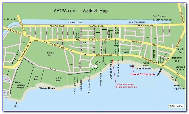 Waikiki Hotels Google Maps