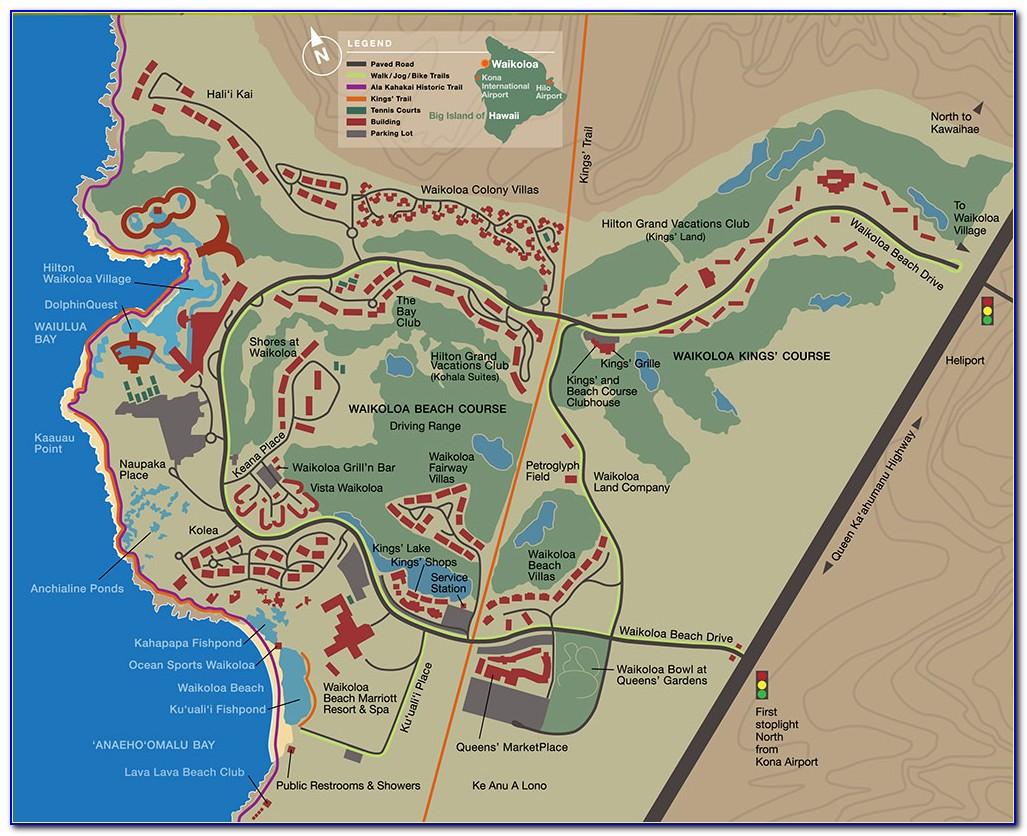 Waikoloa Hotels Map