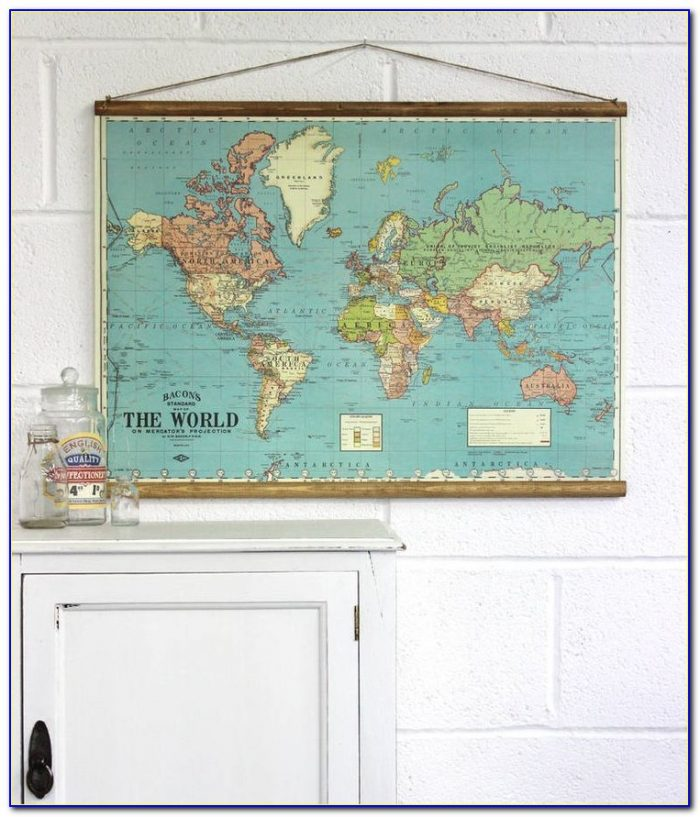 Wall Hanging Map Of The World