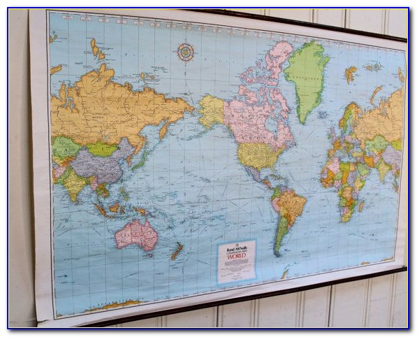 Wall Hanging World Map Mural