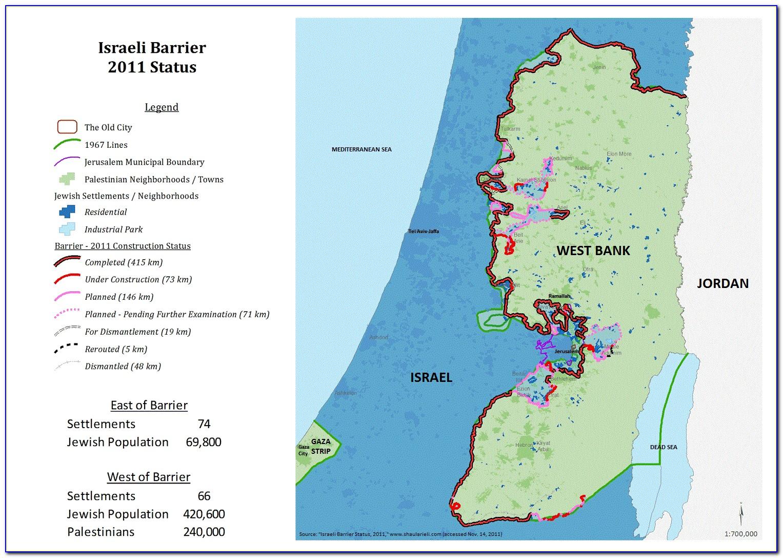 Wall Map Of Ancient Israel