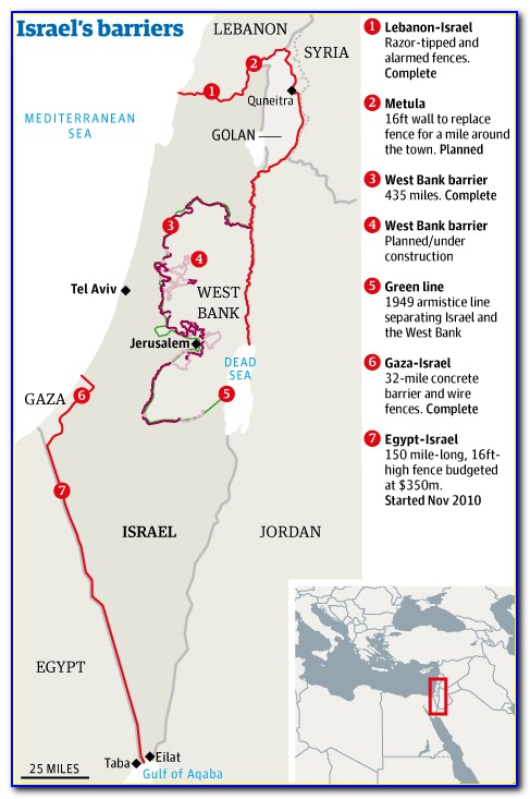 Wall Map Of Biblical Israel