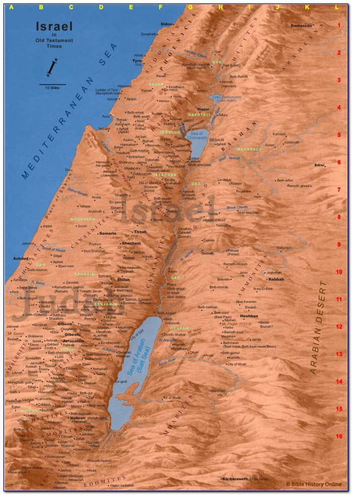 Wall Maps Of Ancient Israel