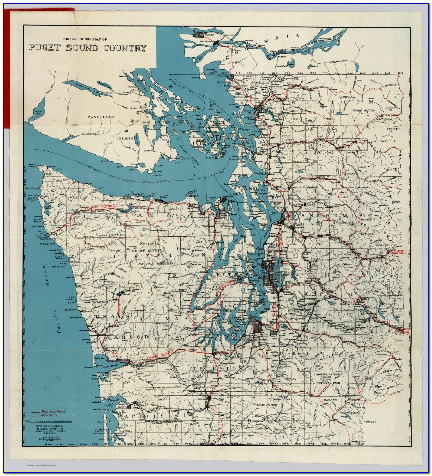 Wall Maps Of Puget Sound