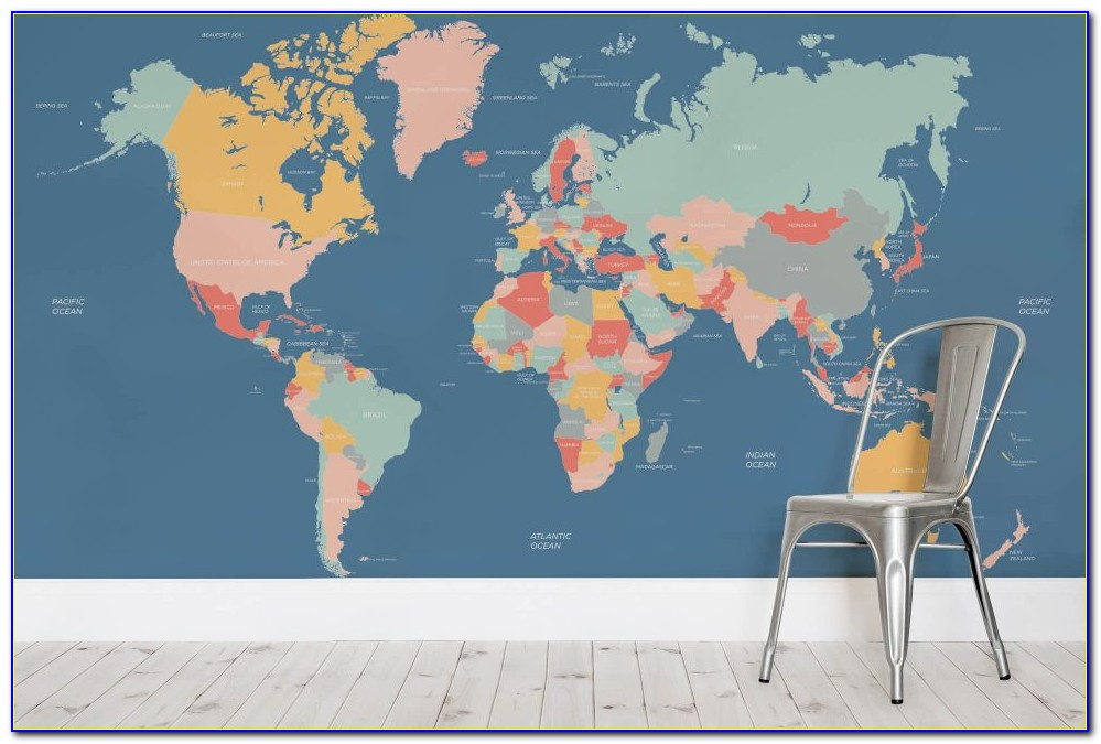 Wall Mural Map Of The World