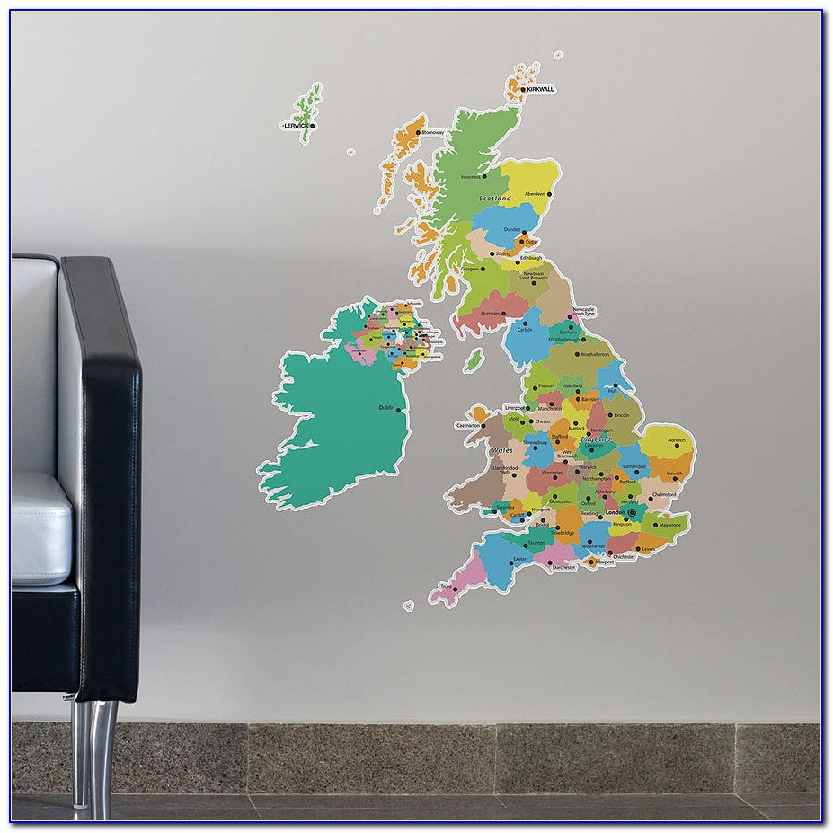 Wall Sticker World Map Words