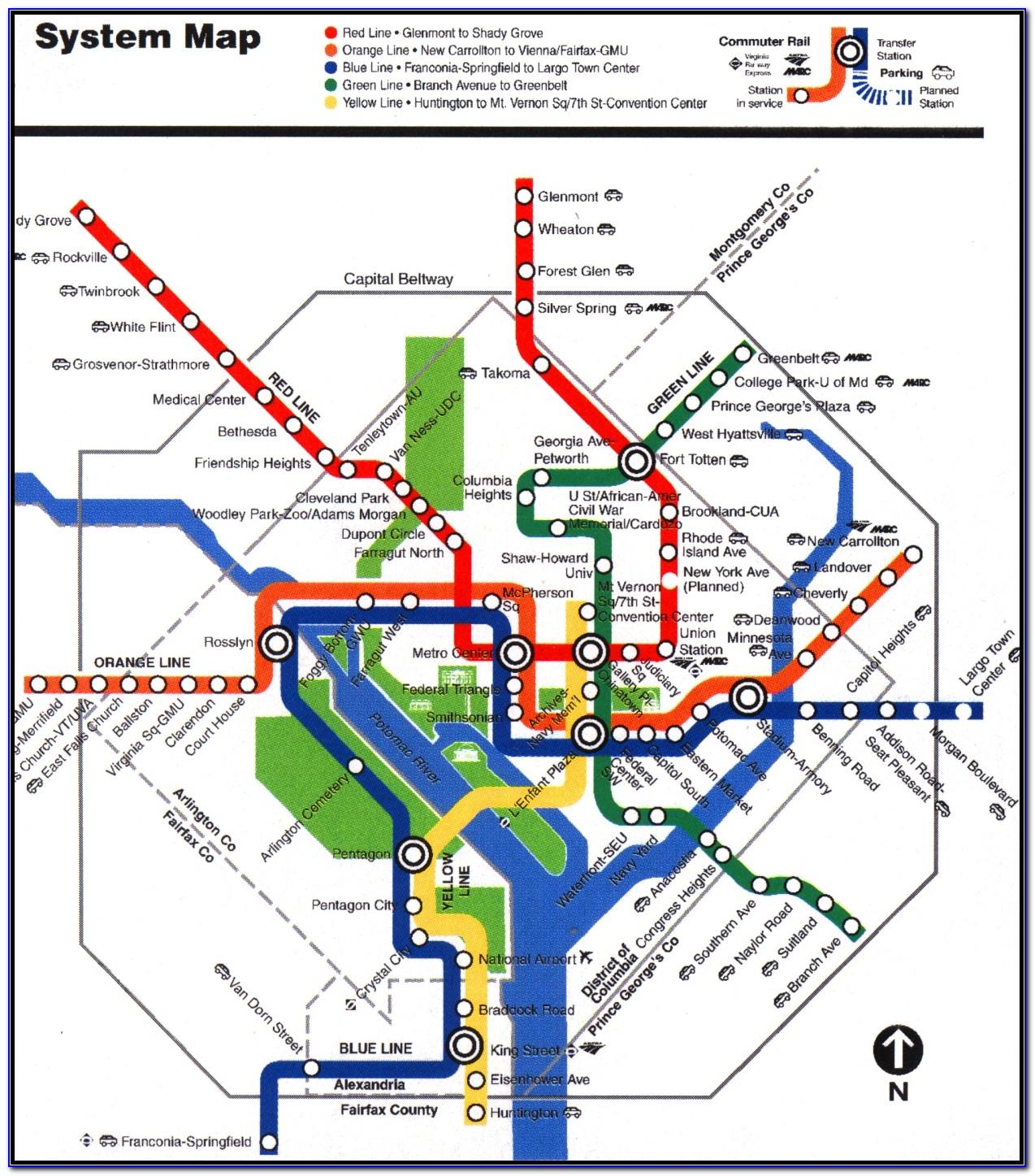 Wash Dc Metro Map Printable