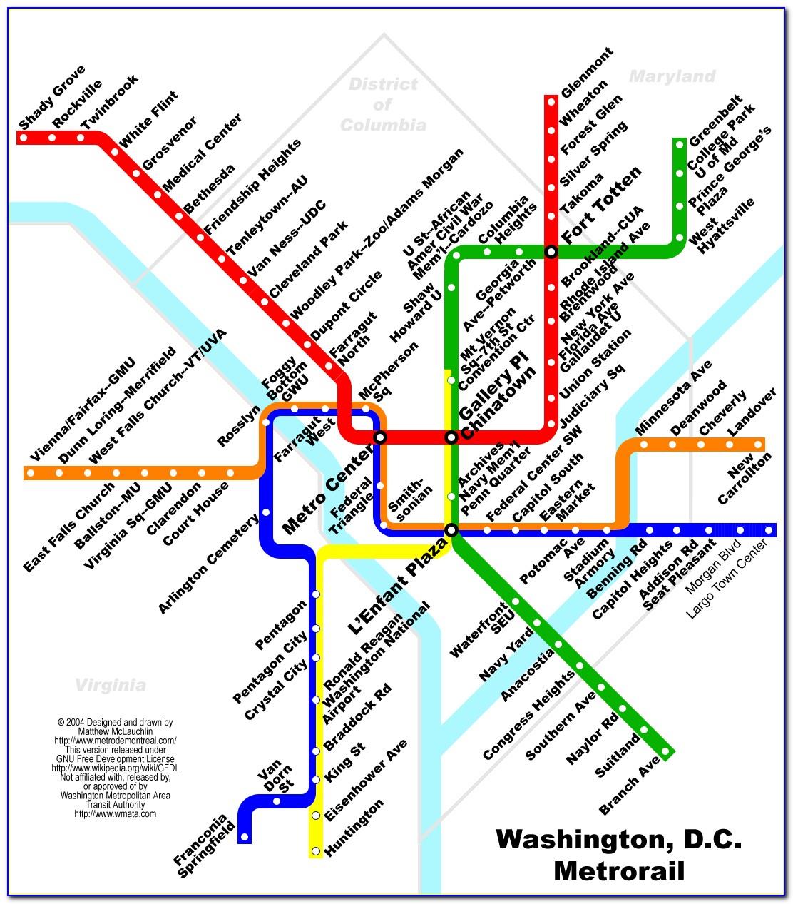 Washington Dc Metro Map And Fares