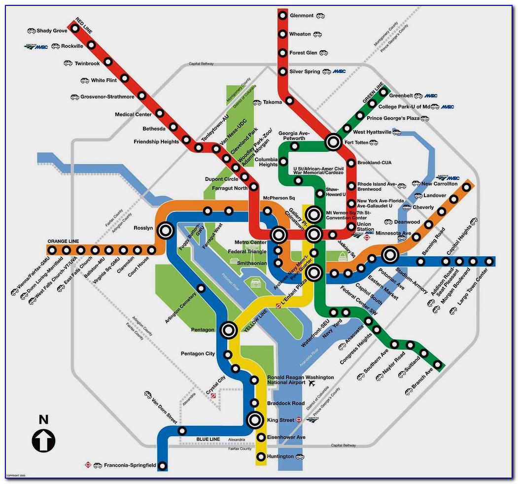 Washington Dc Metro Map Blue Line