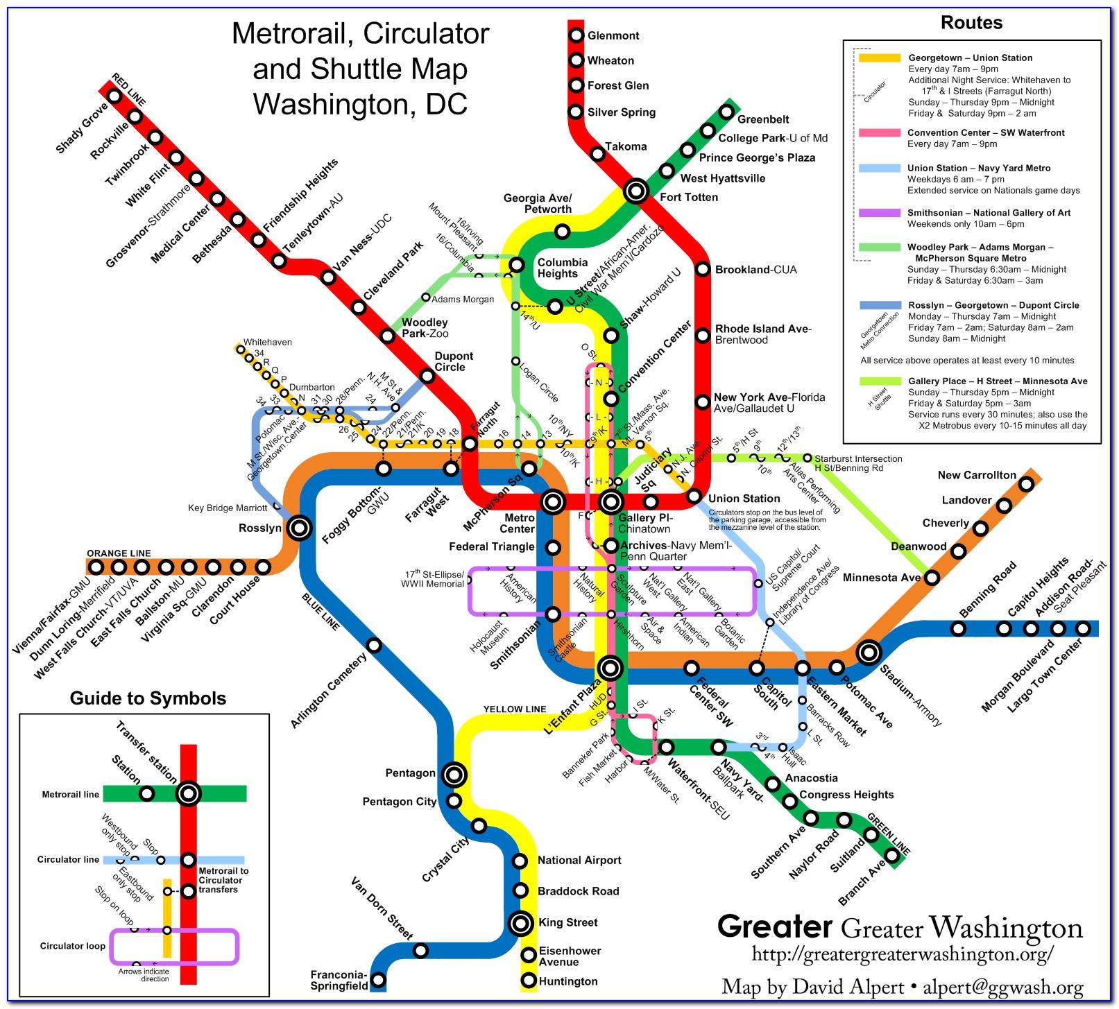 Washington Dc Metro Map Printable