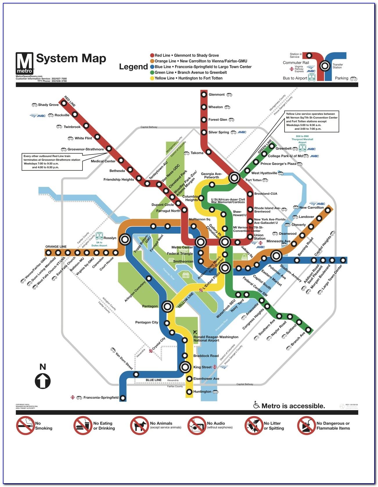 Washington Dc Metro Map With Streets Pdf