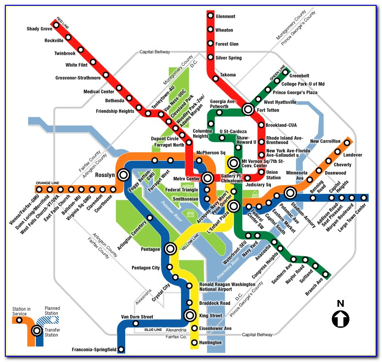 Washington Dc Metro Map With Streets
