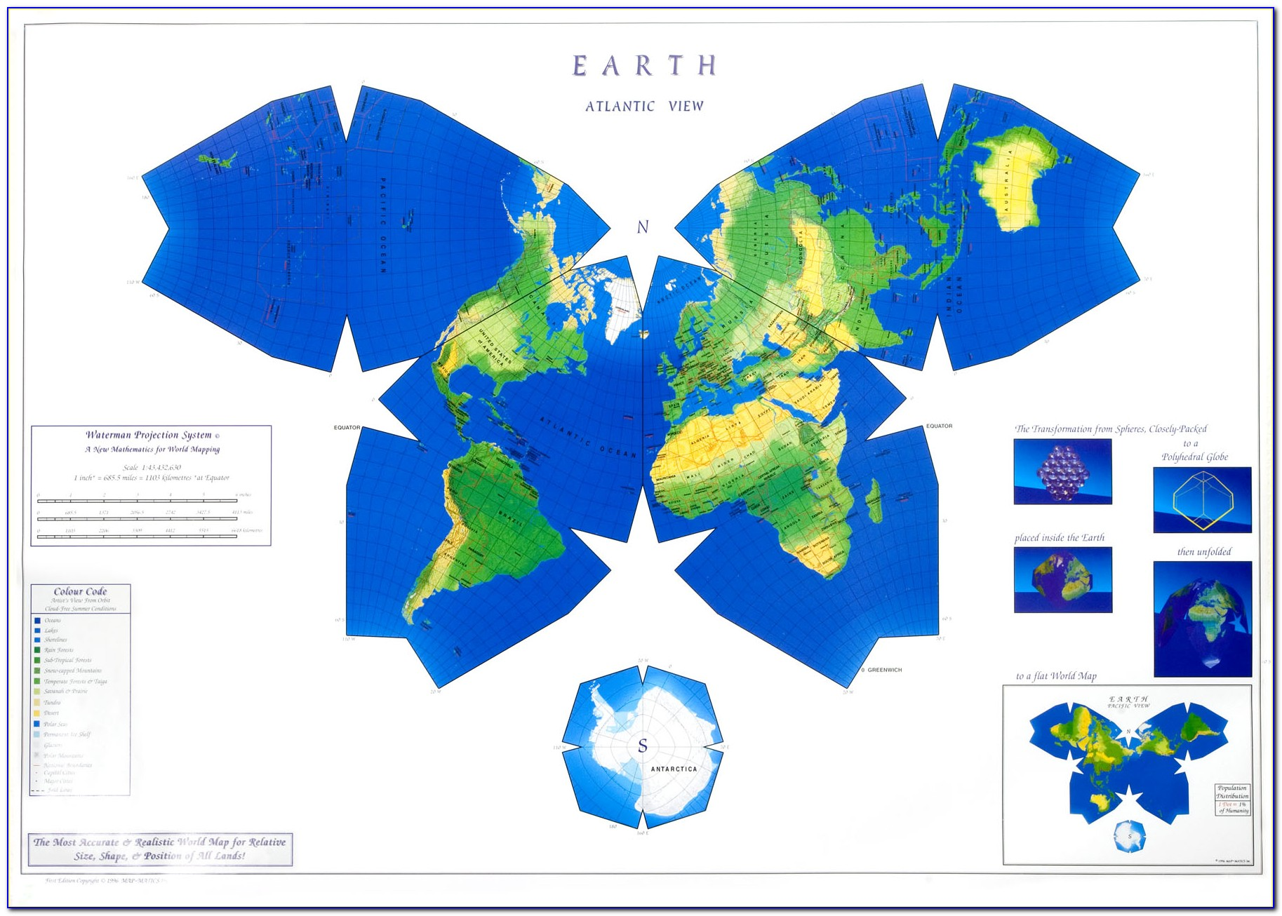 Waterman Butterfly Map Poster