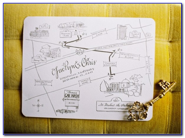 Wedding Invitation Maps Free