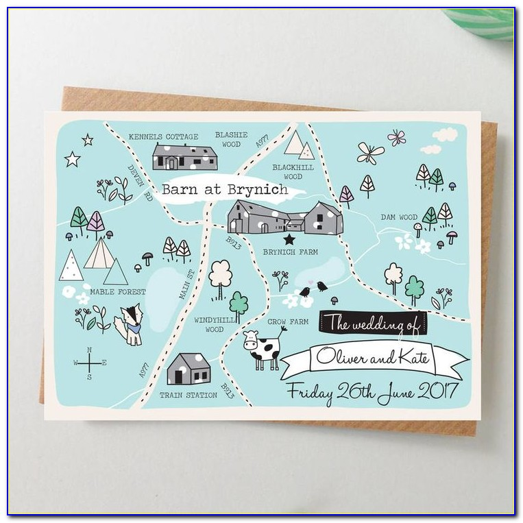 Wedding Invitation With Maps