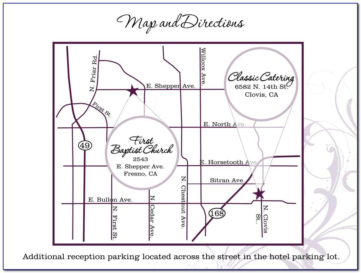 Wedding Invite Maps Template