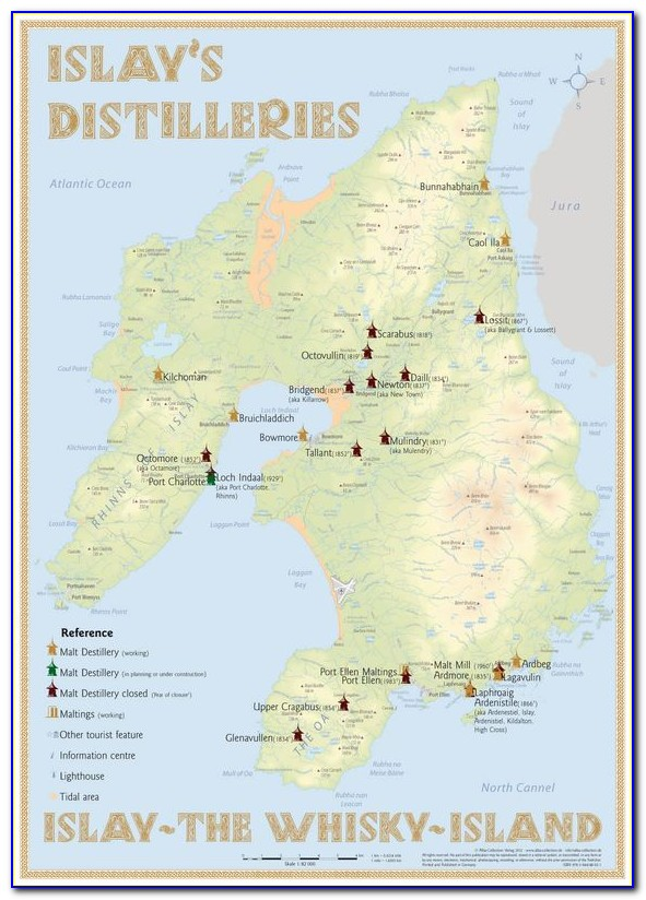 Whiskey Distillery Map Of Scotland