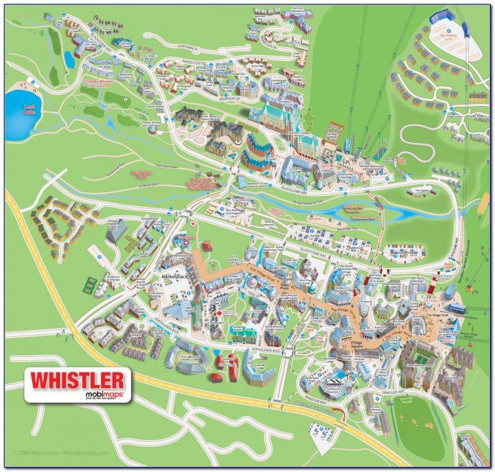 Whistler Accommodation Map