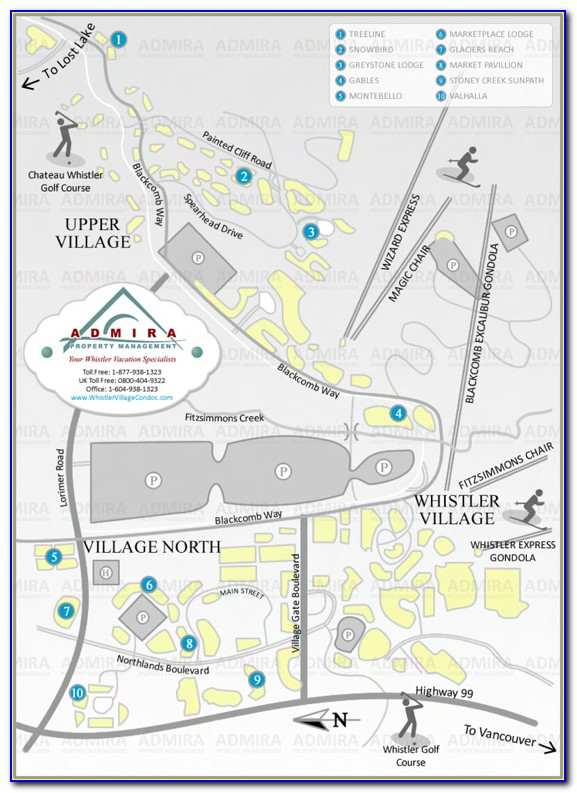 Whistler Condo Map