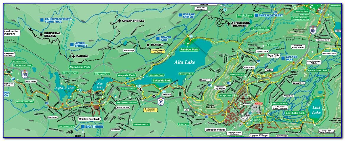 Whistler Creekside Accommodation Map