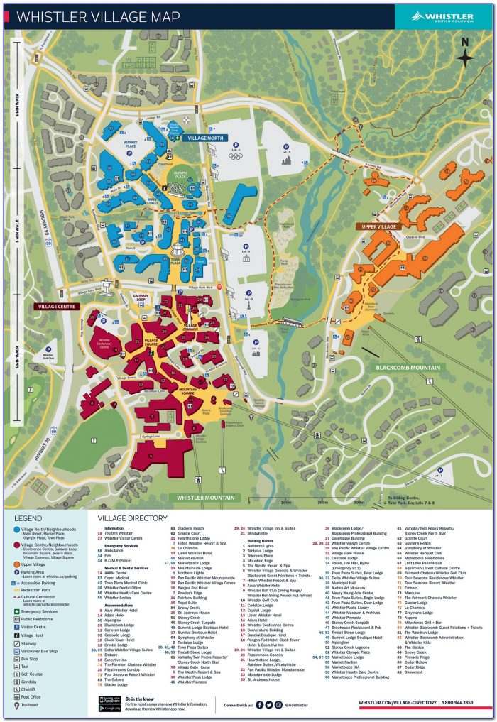 Whistler Hotel Map Pdf