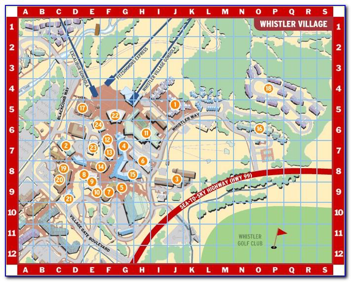 Whistler Resort Map