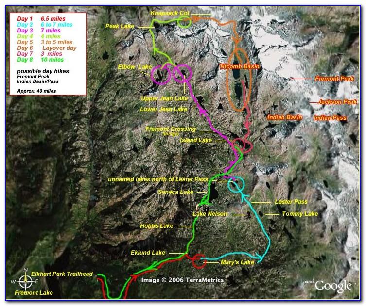 Wind River Range Highline Trail Map