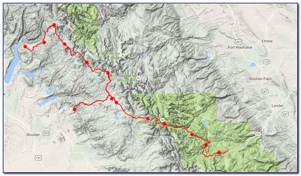 Wind River Range Hiking Map