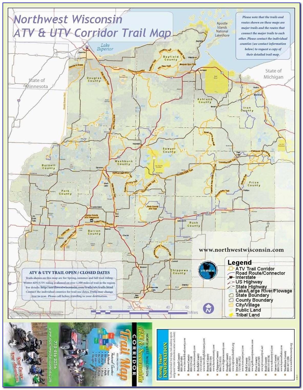 Michigan Snowmobile Trail Maps Gps Luxury Nw Wisconsin Atv & Snowmobile Corridor Map In 2018