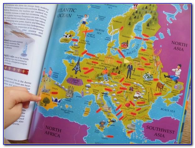 World Atlas Book Political Map Of Europe