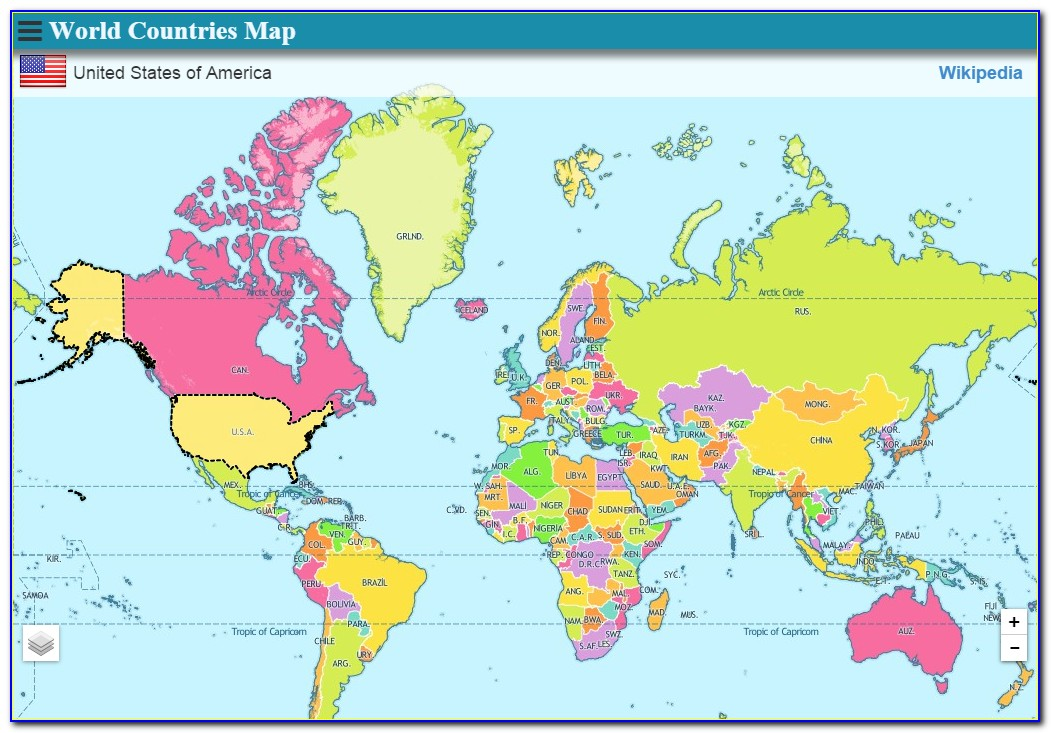 World Atlas Map All Countries