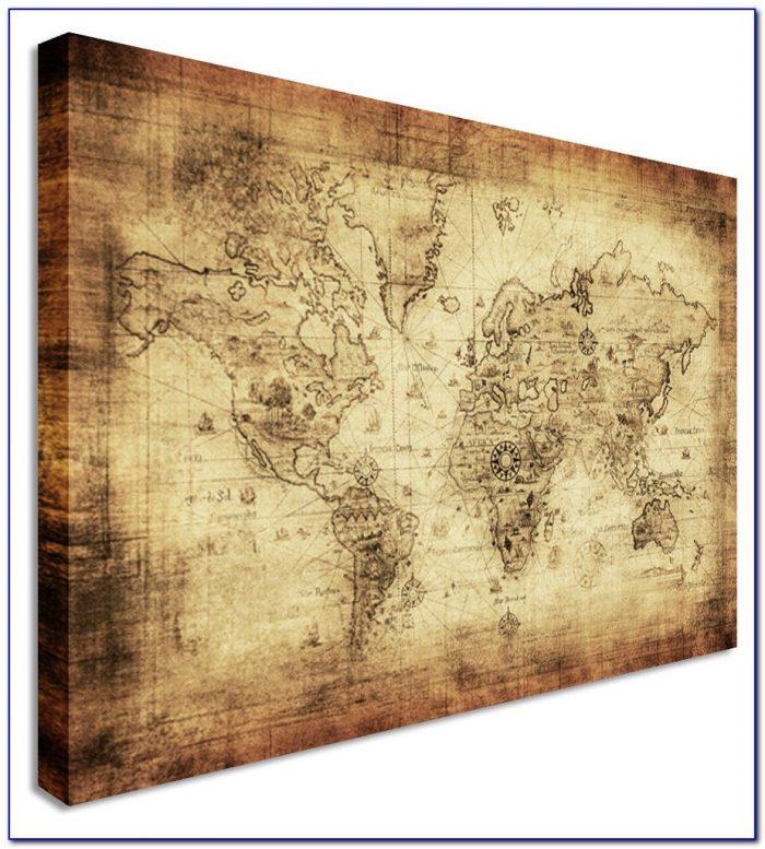 World Map Canvas Art Diy