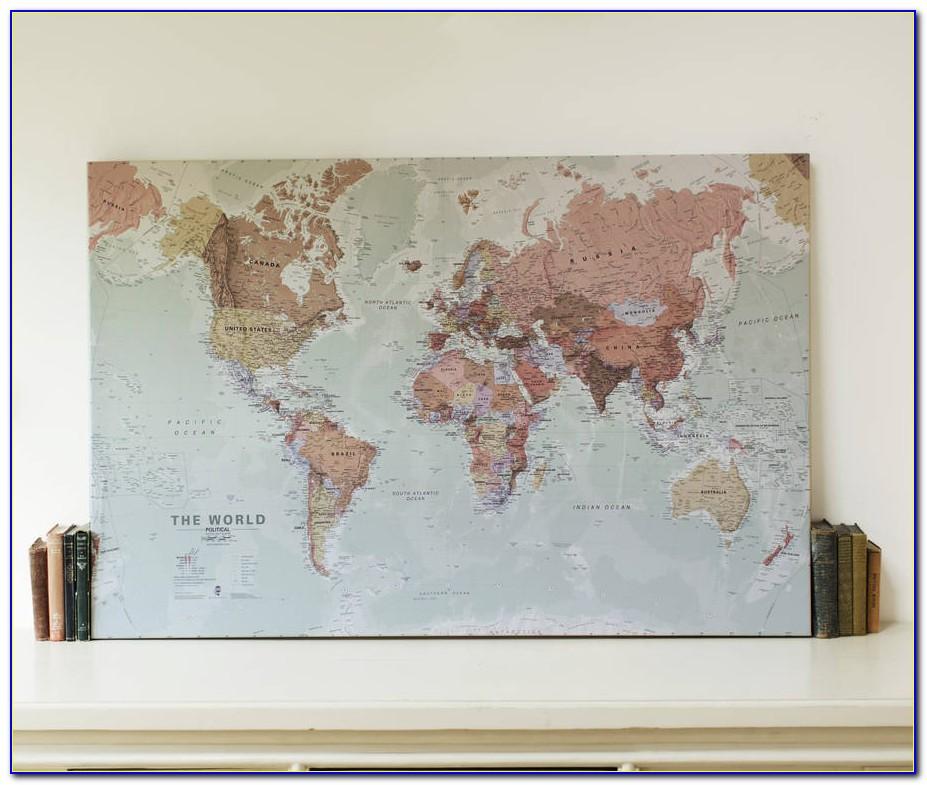 World Map Canvas Art Etsy