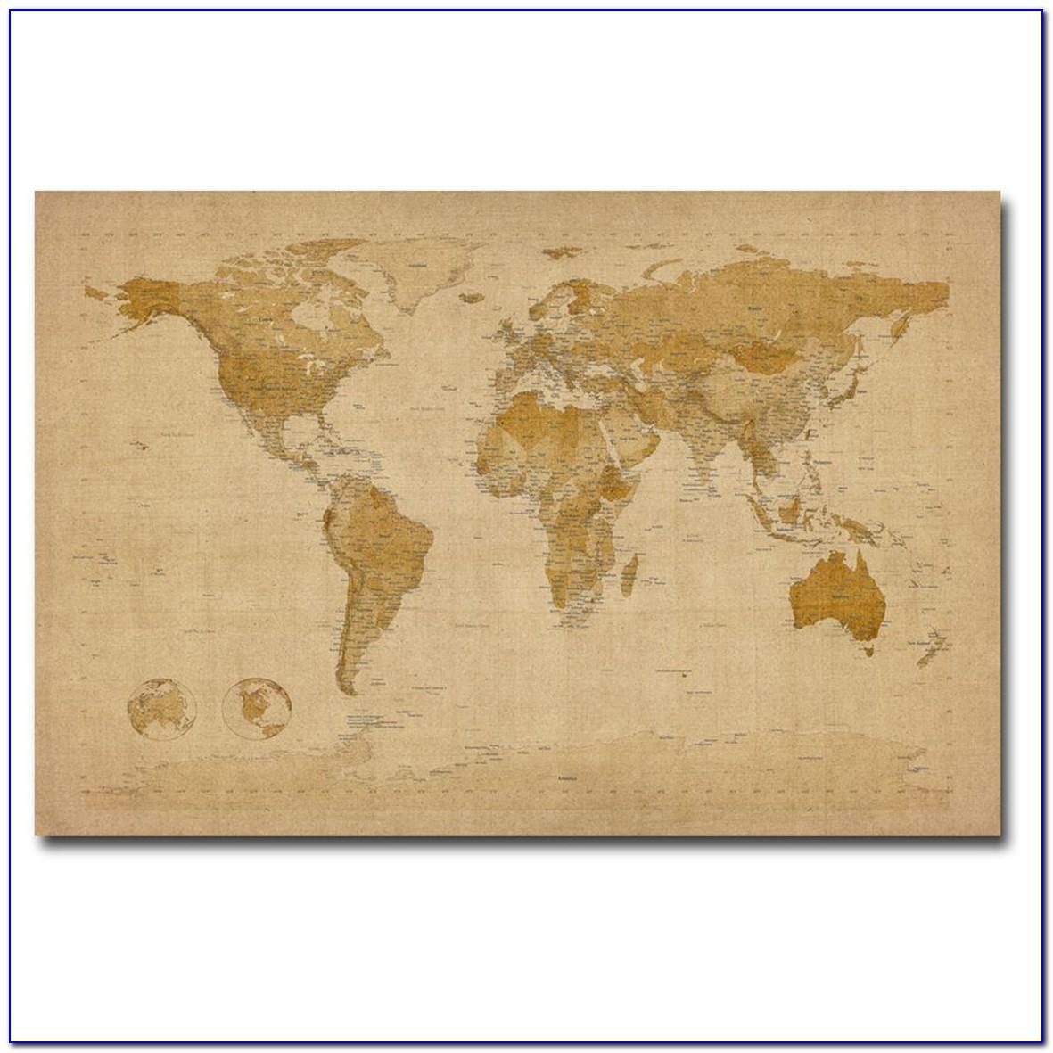 World Map Canvas Art Ikea
