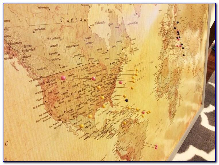 World Map Cork Board Target