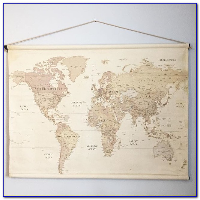 World Map Fabric Hobby Lobby