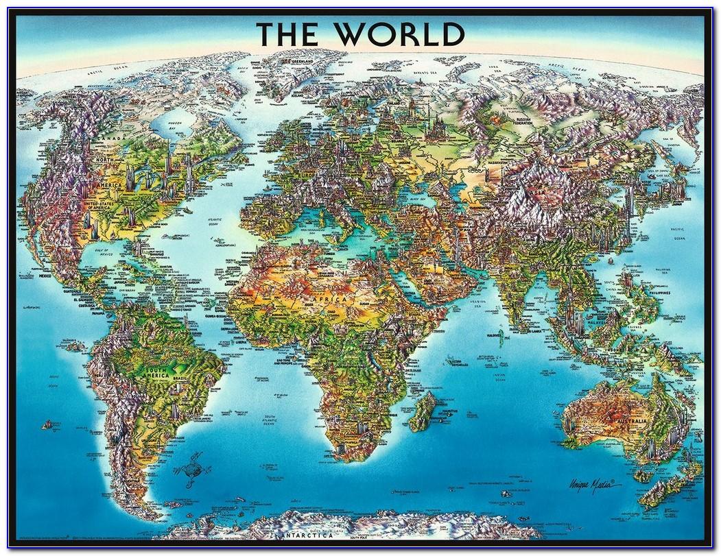 World Map Jigsaw Printable