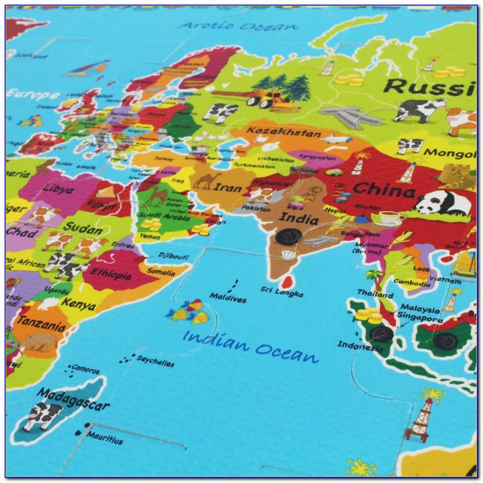 World Map Jigsaw Puzzle For Adults