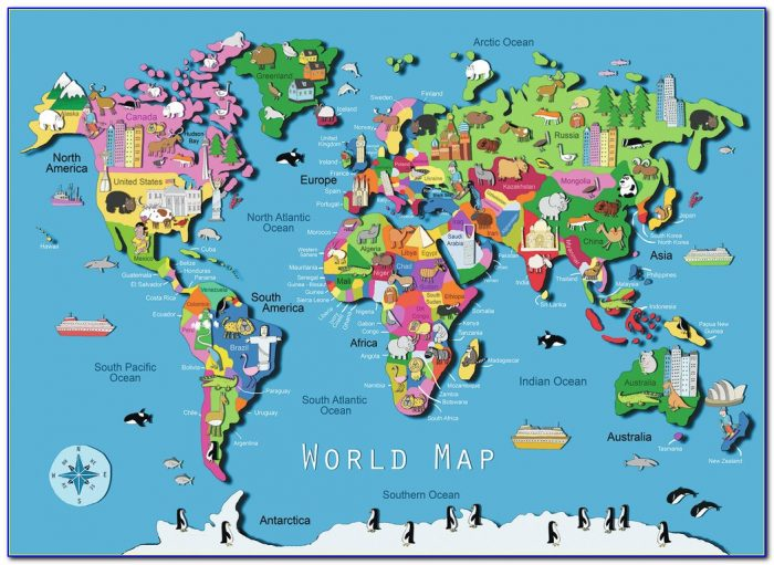 World Map Jigsaw Puzzle For Adults Uk