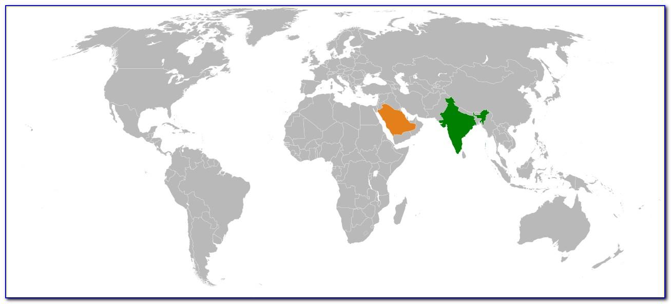 World Map Keychain India