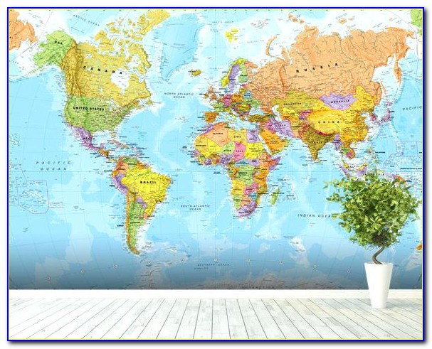World Map Mural Amazon