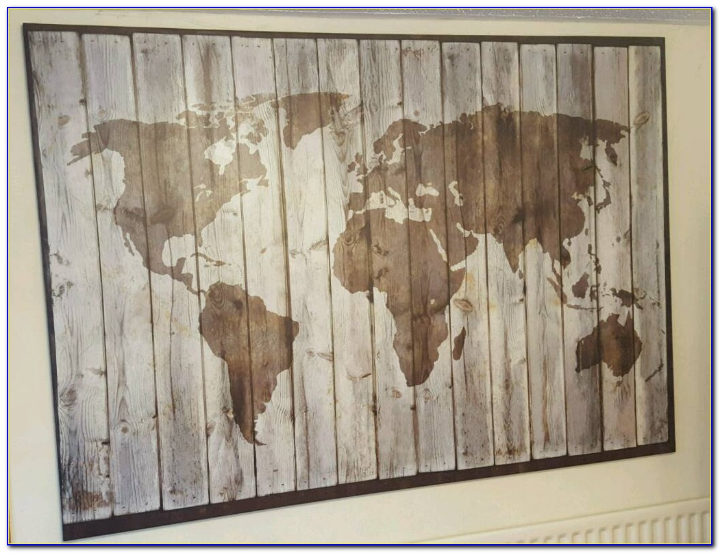 World Map National Geographic Poster