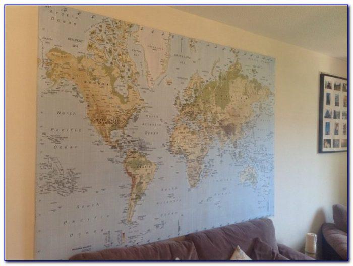 World Map On Canvas Ikea
