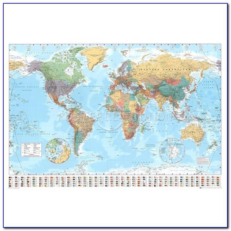 World Map Poster Pin Board