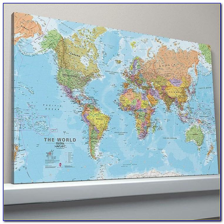 World Map Prints Canvas