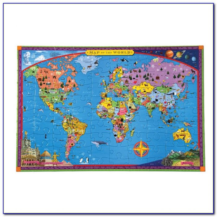 World Map Puzzle 100 Pieces