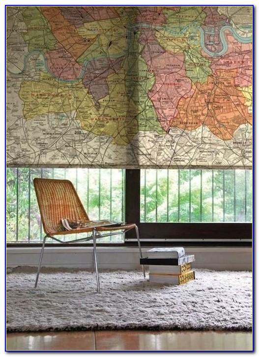 World Map Roller Blind Uk