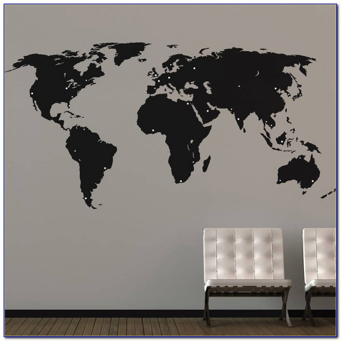 World Map Sticker Wall