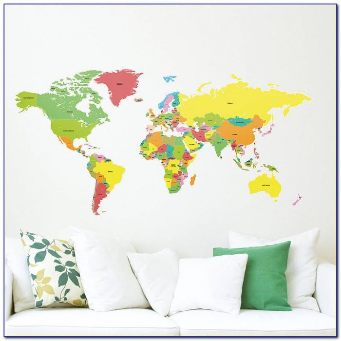 World Map Sticker Wall Art